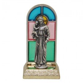 Saint Anthony statue stained glass