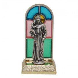 Sint-Benedictus gebrandschilderd glas-in-lood beeld