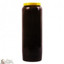 Black novena candle