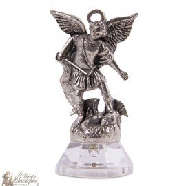 Saint Micheal statue magnet sticker