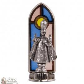 Statue Jésus de Prague vitrail